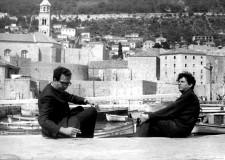 Sergio Pitol y Juan Manuel Torres, del archivo de Sergio Pitol, tomada del almacén del quincenario cultural Performance, dirigido por José Homero.