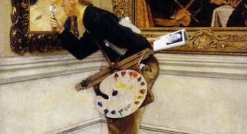 El crítico de arte, © Norman Rockwell