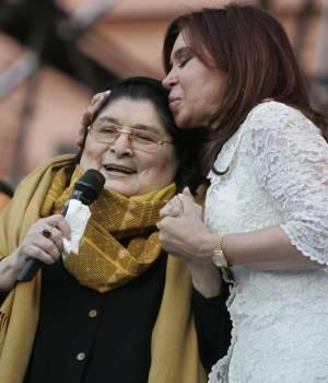 Mercedes Sosa y Cristina Fernández