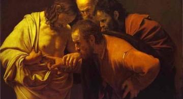 Caravaggio. Tomás el dudoso. 1602-1603. Óleo sobre tela. Sanssouci, Potsdam, Alemania.