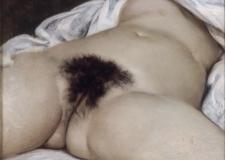 G. Courbet, L'origine du monde (1866). Óleo sobre lienzo. París, Museo de Orsay.