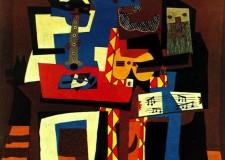 Músicos con máscaras © Picasso