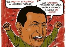 Hugo Chávez al ataque © Cossio