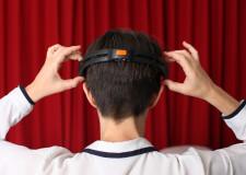 Representaciones del sueño, 2012 Retrato con dispositivo EEG (40 x 27 cm) Fotografía en papel algodón