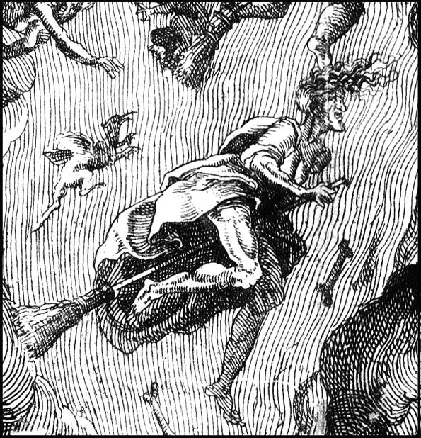 Brujas hacia un aquelarre.
