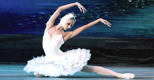 """Odette, o el cisne blanco de """"El lago de los cisnes""""."""