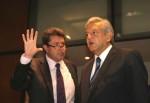Roberto Monreal y Andrés Manuel López Obrador © Milenio Diario.