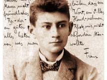 Franz Kafka adolescente. Tarjeta postal de Christian Mantey, Berlín, 2009.