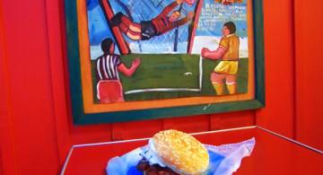 La hamburguesa.