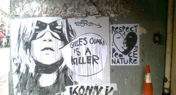 Otra obra artística en las calles de París.