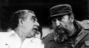 El escritor Gabriel García Márquez y el dictador Fidel Castro.