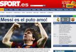 """""""Messi es el puto amo""""... ¿Van a censurar al Sport?"""