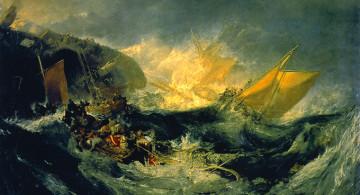 """William Turner, """"El naufragio del Minotauro"""", 1793."""
