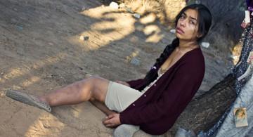 """Gabriela Cartol como Ángeles en """"La tirisia""""."""